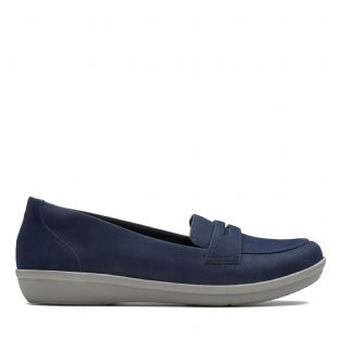Clarks Ayla Form Navy Womens Shoes